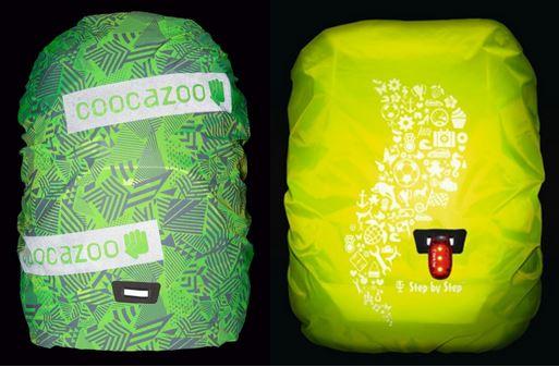 Sicher mit Licht am rucksack Schulranzen zur Schule
