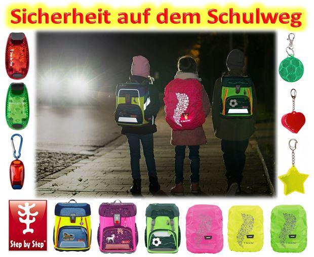 sicherheit schulranzen schulweg DIN 58124 beratung auswahl angebot edelbauer muenchen starnberg dachau puchheim step by step scout ergobag mcneill