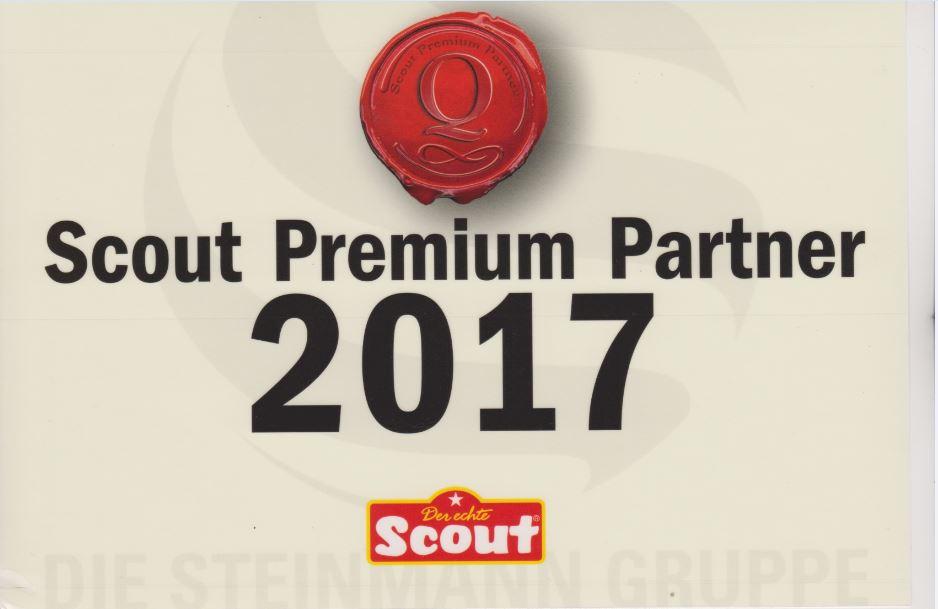 Scout Schulranzen Premium Partner Urkunde 2017
