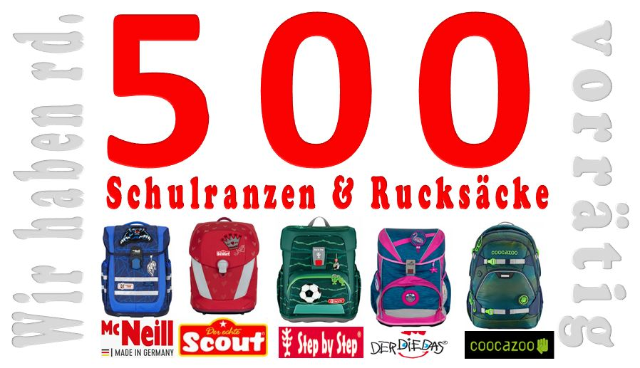 Schulranzen Schulrucksack ergobag satch scout mcneill step by step derdiedas beratung angebot muenchen puchheim starnberg dachau